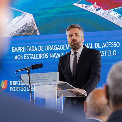 Ministro das Infraestruturas e Habitação lança empreitada de dragagem do canal de acesso ao estaleiro